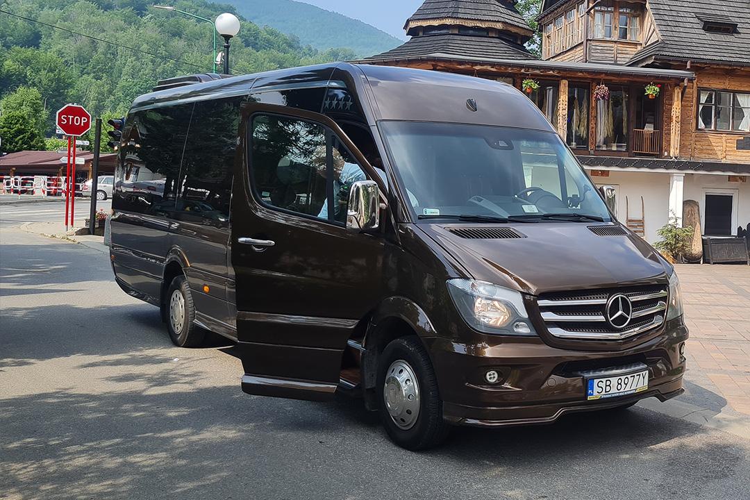 brązowy bus